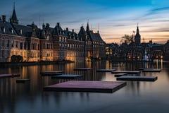 Binnenhof - holländsk parlament och regering royaltyfri bild