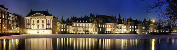 Binnenhof at night Royalty Free Stock Image