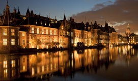 Binnenhof at Night Royalty Free Stock Photography