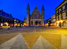 Binnenhof by Night, The Hague Stock Photos