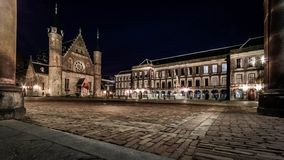 Binnenhof by night Royalty Free Stock Image
