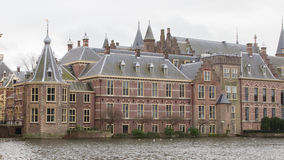Binnenhof Palace in The Hague (Den Haag) along the Hofvijfer,  T Royalty Free Stock Images