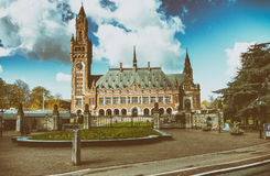 Binnenhof, political center of The Netherlands, in The Hague stock photo