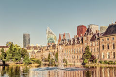 Binnenhof and skyline in The Hague Royalty Free Stock Images