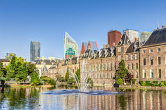 Binnenhof and skyline in The Hague Royalty Free Stock Photo