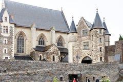 Binnenhof van Angers Kasteel, Frankrijk Stock Foto