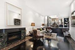 Binnenhuisarchitectuur van een woonkamer Royalty-vrije Stock Foto's