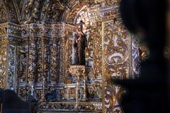 Binnenigreja e Convento DE São Francisco in Bahia, Salvador - Brazilië stock afbeeldingen