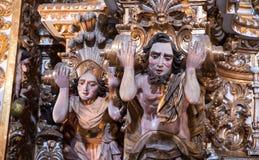 Binnenigreja e Convento DE São Francisco in Bahia, Salvador - Brazilië stock foto's