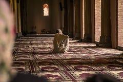 Binnenjama masjid moskee Srinagar Royalty-vrije Stock Afbeeldingen