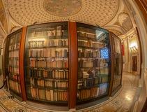 Binnenkant in één ruimte van de Bibliotheek van Congres, Washington DC royalty-vrije stock afbeeldingen
