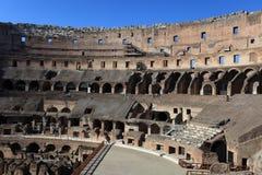 Binnenkant in Colosseum, Rome, Italië royalty-vrije stock foto's