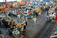 Binnenkant in de Centrale Yerevan Markt, Armenië Royalty-vrije Stock Afbeeldingen