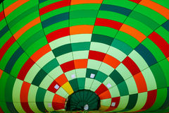 Binnenkant in hete luchtballon royalty-vrije stock foto's