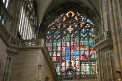 Binnenkathedraal Praag Stock Foto's