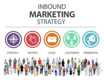 Binnenkomende Marketing Strategiereclame Commercieel Brandmerkend Co Stock Afbeeldingen