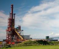 Binnenländische Schmieröl-Ölplattform Stockfotos