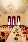 Binnenland 2 van het restaurant stock afbeeldingen