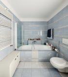 Binnenland, badkamers stock afbeeldingen