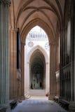 Binnenland de Kathedraal van Onze Dame van Chartres Stock Fotografie