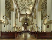 Binnenland de oude Kathedraal in Zamnosc, Polen. Royalty-vrije Stock Fotografie