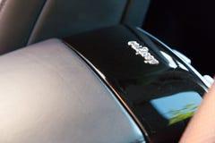 Binnenland (Designo) van gebruikte Mercedes-Benz-lange s-Klasse S350 (W221 Royalty-vrije Stock Foto