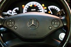Binnenland (Designo) van gebruikte Mercedes-Benz-lange s-Klasse S350 (W221 Stock Fotografie