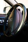 Binnenland (Designo) van gebruikte Mercedes-Benz-lange s-Klasse S350 (W221 Stock Foto