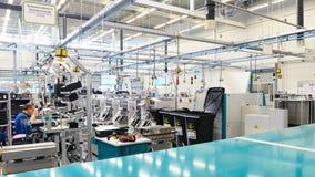 Binnenland een architectuur van een industrieel gebouw voor productie stock fotografie