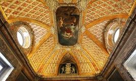 Binnenland en details van het museum van Vatikaan, de stad van Vatikaan Stock Afbeeldingen