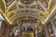 Binnenland en details van het museum van Vatikaan, de stad van Vatikaan Royalty-vrije Stock Afbeeldingen