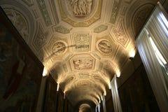 Binnenland en details van het museum van Vatikaan, de stad van Vatikaan Stock Afbeelding