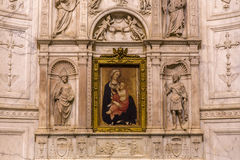 Binnenland en details van Siena kathedraal, Siena, Italië Royalty-vrije Stock Fotografie