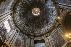 Binnenland en details van Siena kathedraal, Siena, Italië Stock Foto's