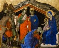 Binnenland en details van Siena kathedraal, Siena, Italië Stock Afbeelding