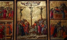 Binnenland en details van Siena kathedraal, Siena, Italië Stock Foto