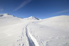 Binnenland het ski?en Royalty-vrije Stock Fotografie