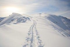 Binnenland het ski?en Royalty-vrije Stock Afbeeldingen