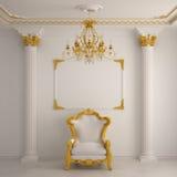 Binnenland in klassieke stijl royalty-vrije illustratie