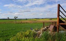 Binnenland landelijk landschap Australië Stock Fotografie