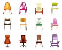 Binnenland, luxe, bureau, en plastic stoelen Stock Foto