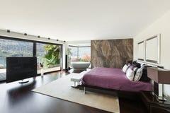 Binnenland, luxeslaapkamer Royalty-vrije Stock Afbeelding