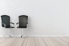 Binnenland met bureaustoelen Royalty-vrije Stock Foto