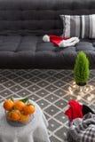 Binnenland met Kerstmisdecoratie Stock Fotografie