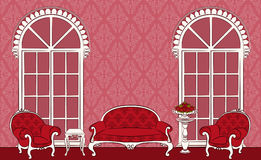 binnenland met meubilair. Royalty-vrije Stock Foto's