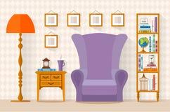 Binnenland met meubilair Vector illustratie Royalty-vrije Stock Fotografie