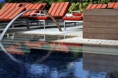 Binnenland met pool royalty-vrije stock foto's