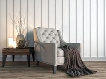 Binnenland met stoel 3D Illustratie Royalty-vrije Stock Foto's