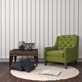 Binnenland met stoel 3D Illustratie Stock Foto's