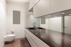 Binnenland, modern toilet royalty-vrije stock foto's